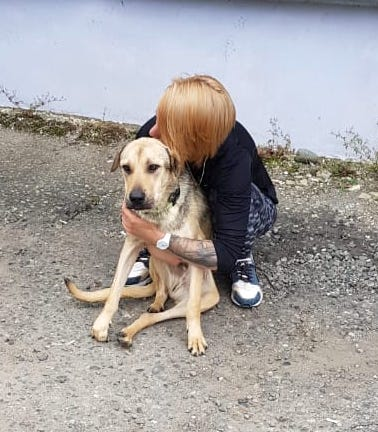Masha gives me a hug good-bye.