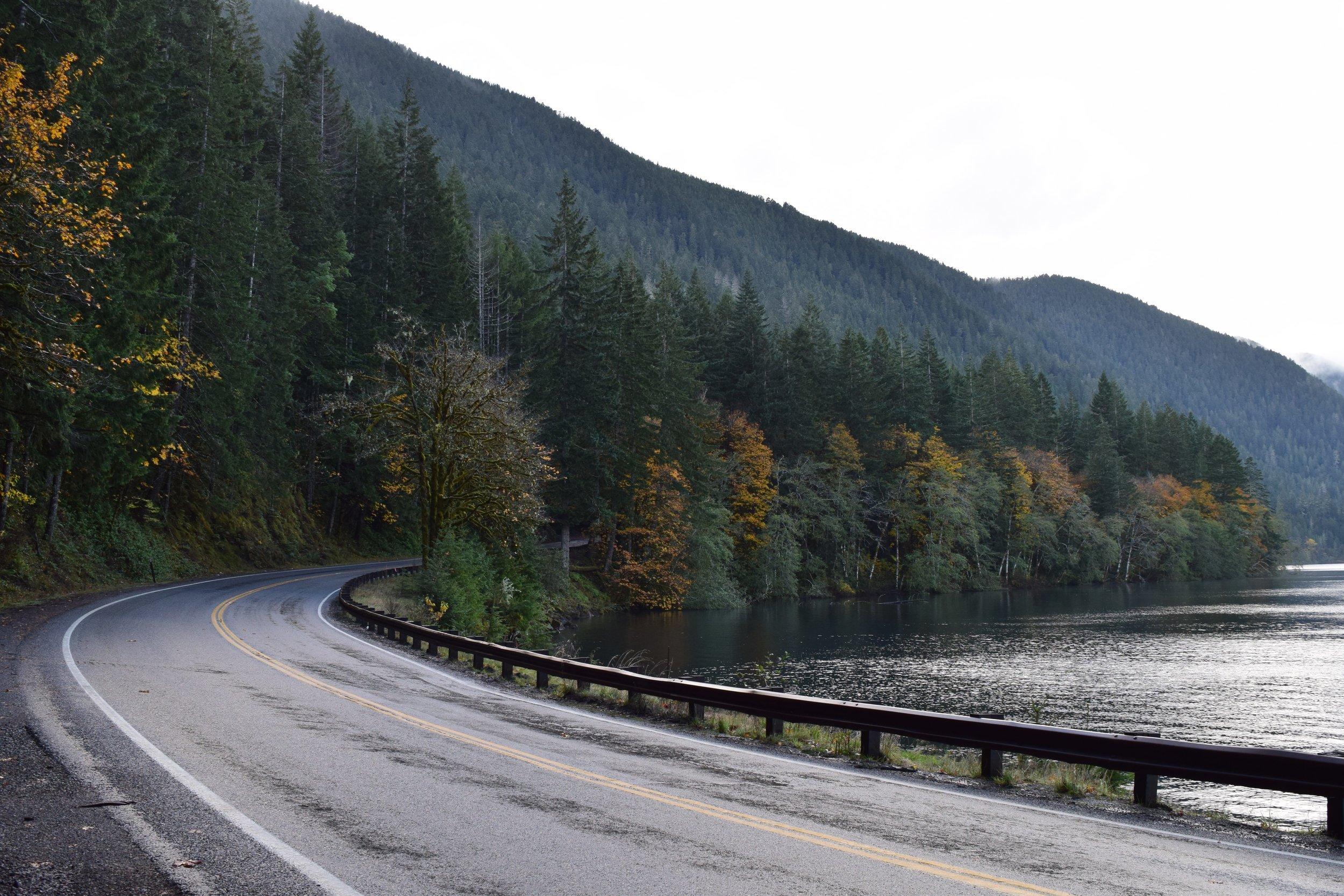 Highway 101 around Lake Crescent