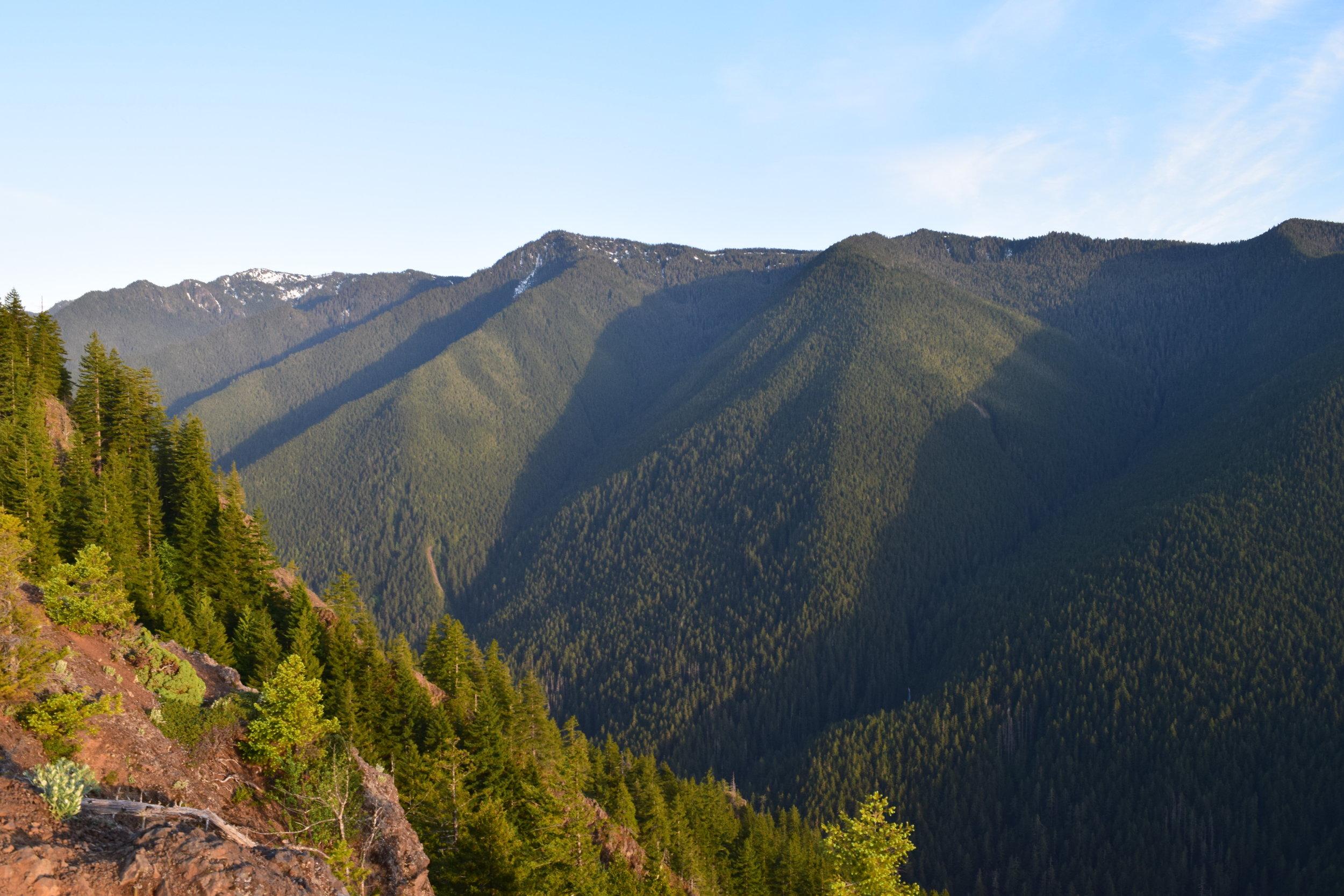 A mountainous backdrop