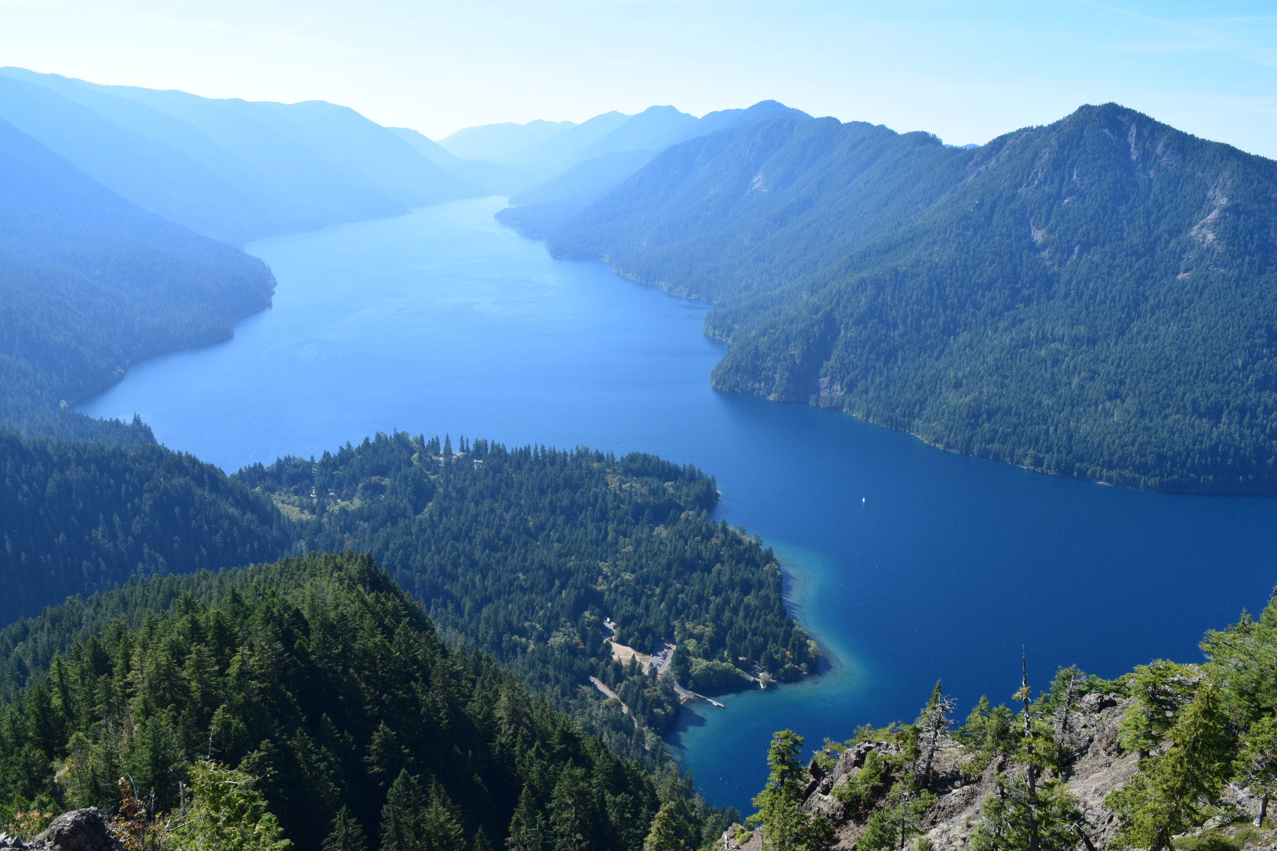 A bucket list view of Lake Crescent