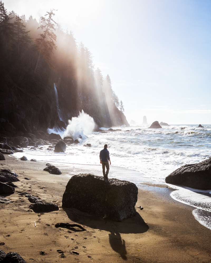 Third Beach on the Olympic Peninsula with Tommy by Michael Matti.jpg