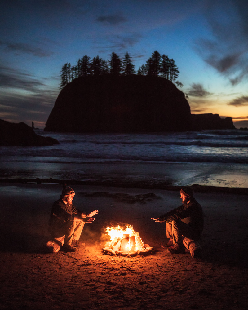 Second Beach Campfire on the Olympic Peninsula with Adam and Tommy by Michael Matti.jpg
