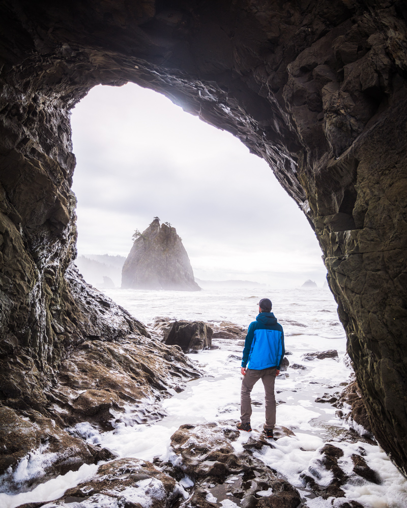 Hole in the Wall at Rialto Beach on the Olympic Peninsula by Michael Matti.jpg