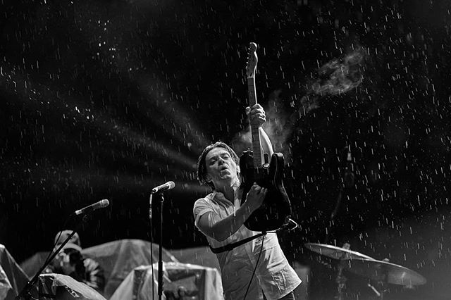 @Julytalk last weekend mid down pour after so many other bands cancelled at #santateresafest for @weraddictedmag Shooting them again tonight at #cbcmusicfest and could not be more into seeing them again. These guys keep it interesting. . . .  #music #festival #gigphotography #dblockphoto #blackandwhite #julytalk #rain #wet #hardcore #peterdreimanis #storm