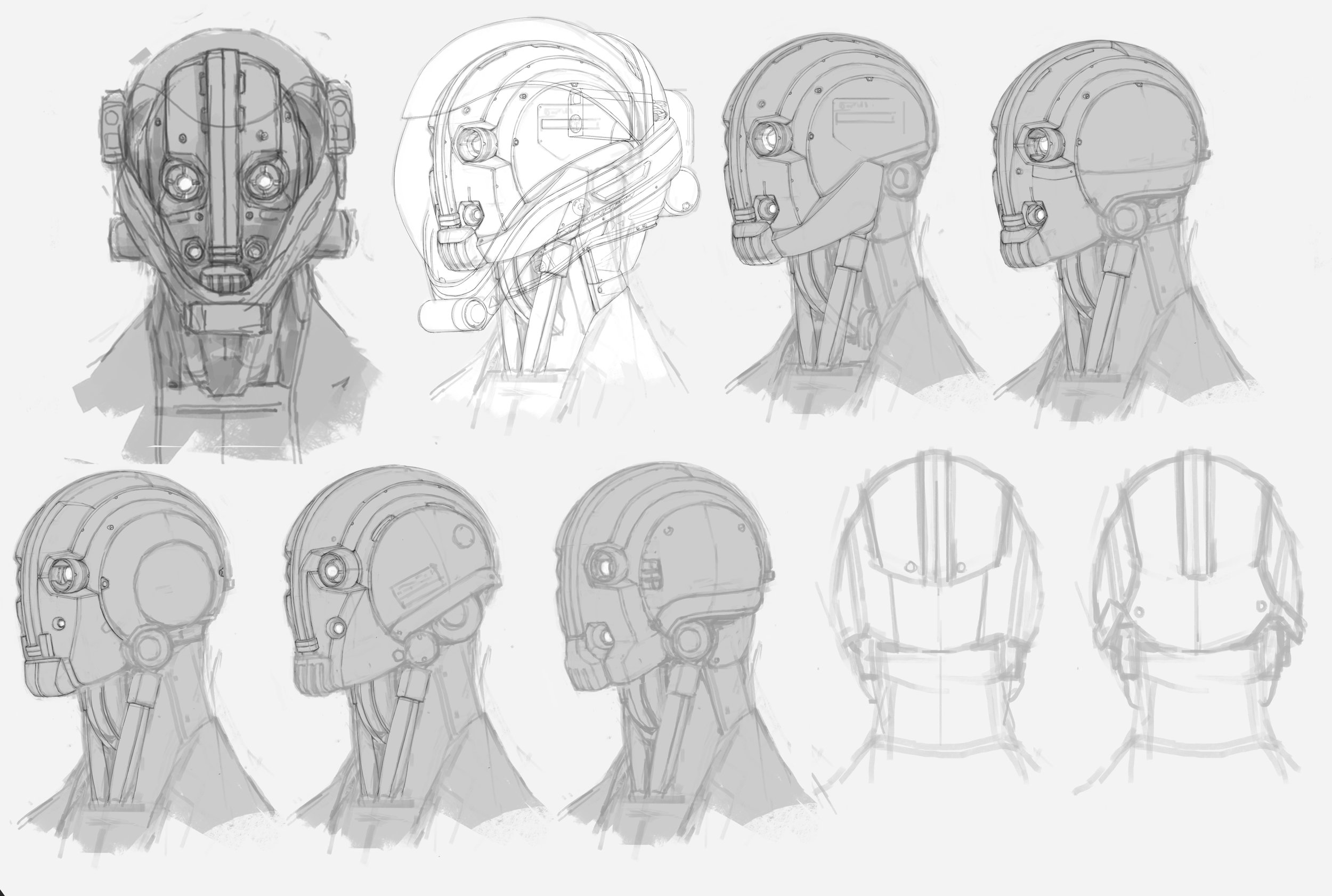 Jack - head sketches