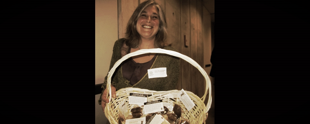 "Handmade Valley Oak acorn ""cakelettes"" by Jolie Egert Elan of GoWild were given to the audience after the screenings."