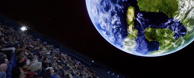 2 screenings in the Morrison Planetarium and 2 facilitated dialogues were given to more than 520 people during the Academy's NightLife after hours event. Photo: California Academy of Sciences
