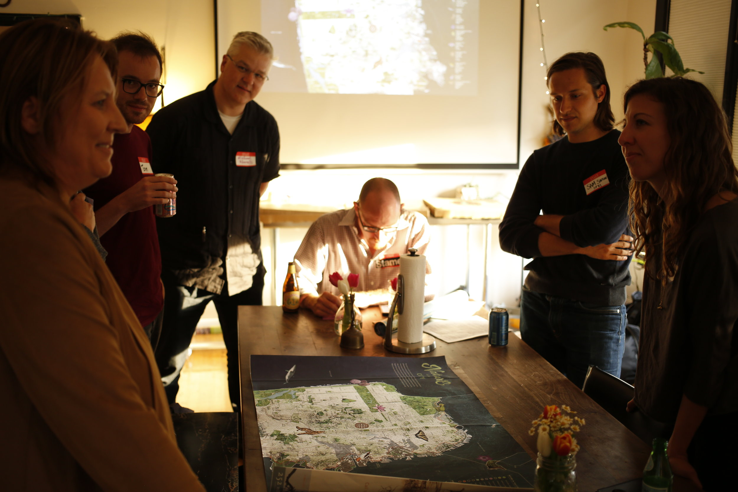 Planned, facilitated, and summarized insights from 3 feedback sessions held at Stamen Design and the Exploratorium with 90 participants. Photos courtesy of Nature in the City and by Matt Irving and ICI
