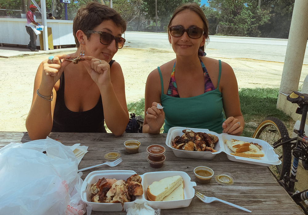 Jerk chicken in Cayman with the two Fi's