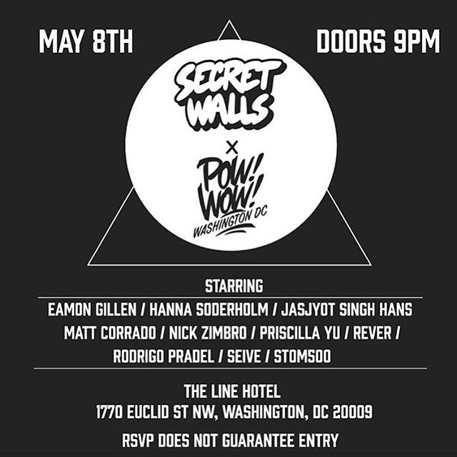 Tonight SEIVE will be painting from our crew to represent @secretwalls @powwowdc !!
