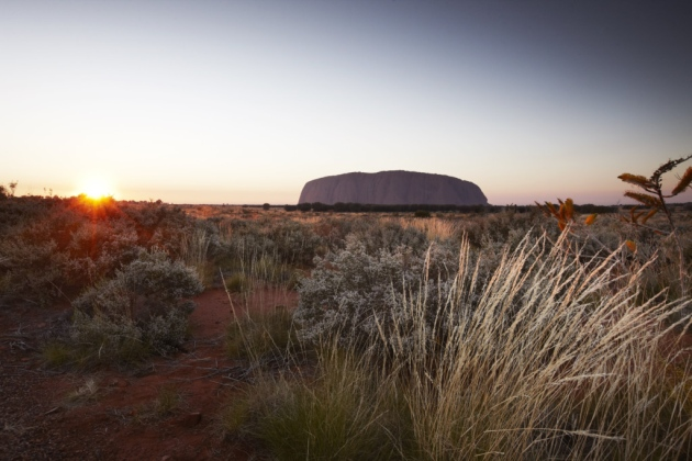 Sunrise at Ayers Rock