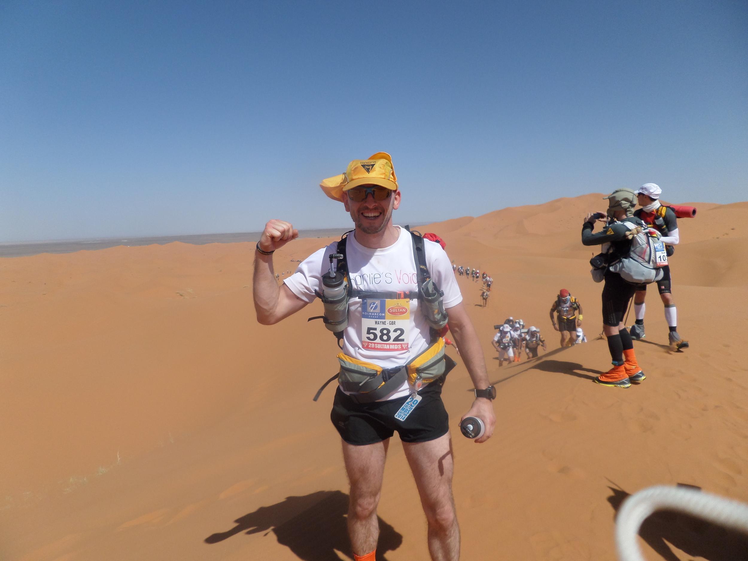 Wayne 'Kenny' Drinkwater at the 2014 Marathon des Sables