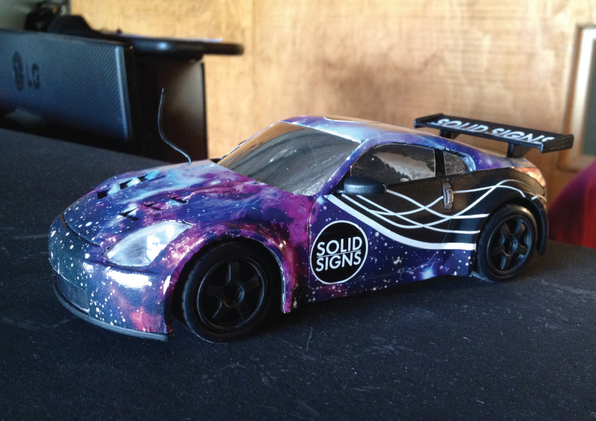 RC car wrap