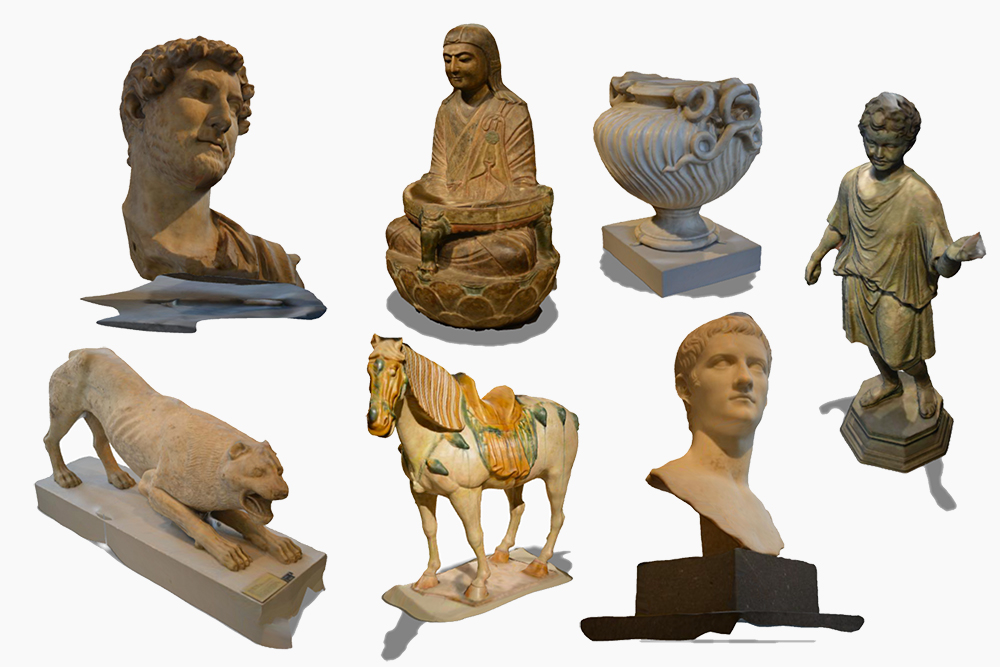 3D scanning from Met asian art and geek and roman collections.