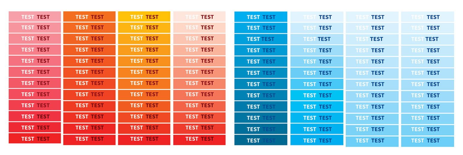 User testing with color palette to see the visibility.