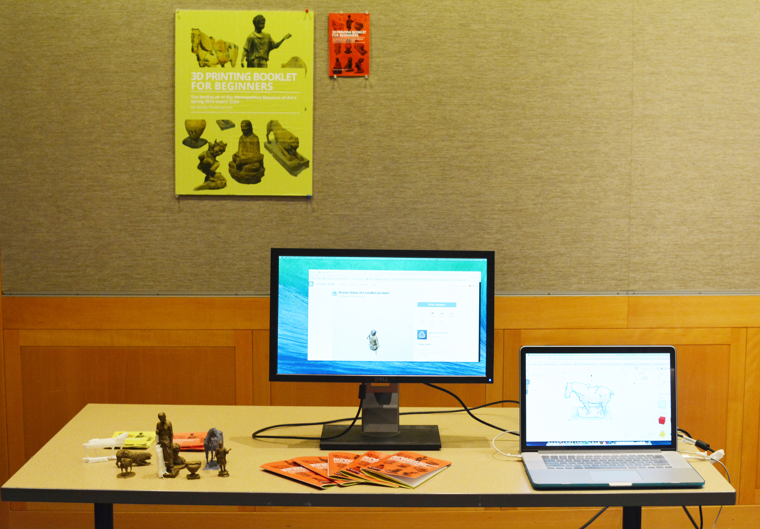 My table top setup at Met Intern Exhibition.