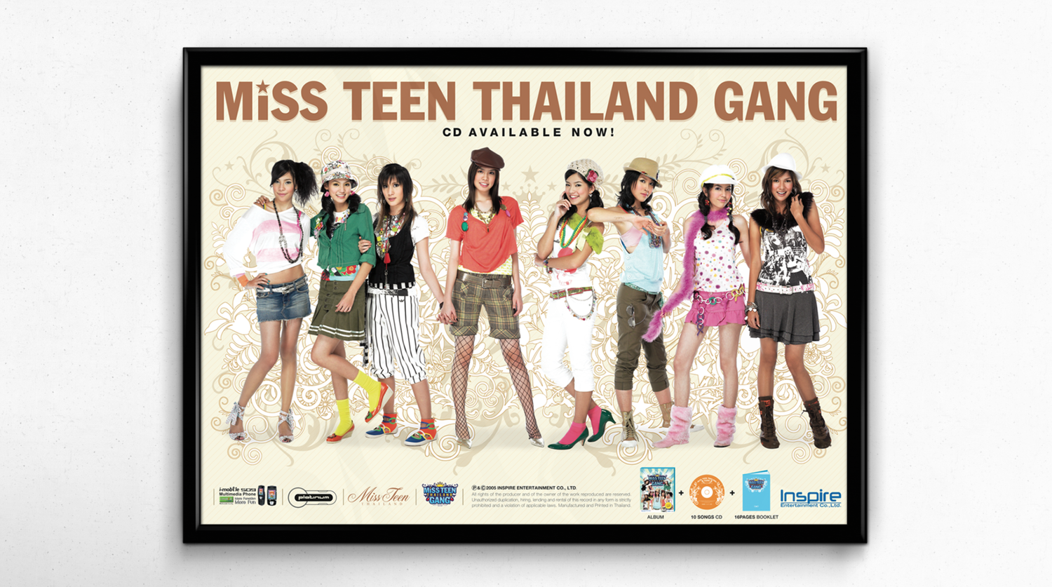 Promotional poster for Miss Teen Thailand Gang Album.