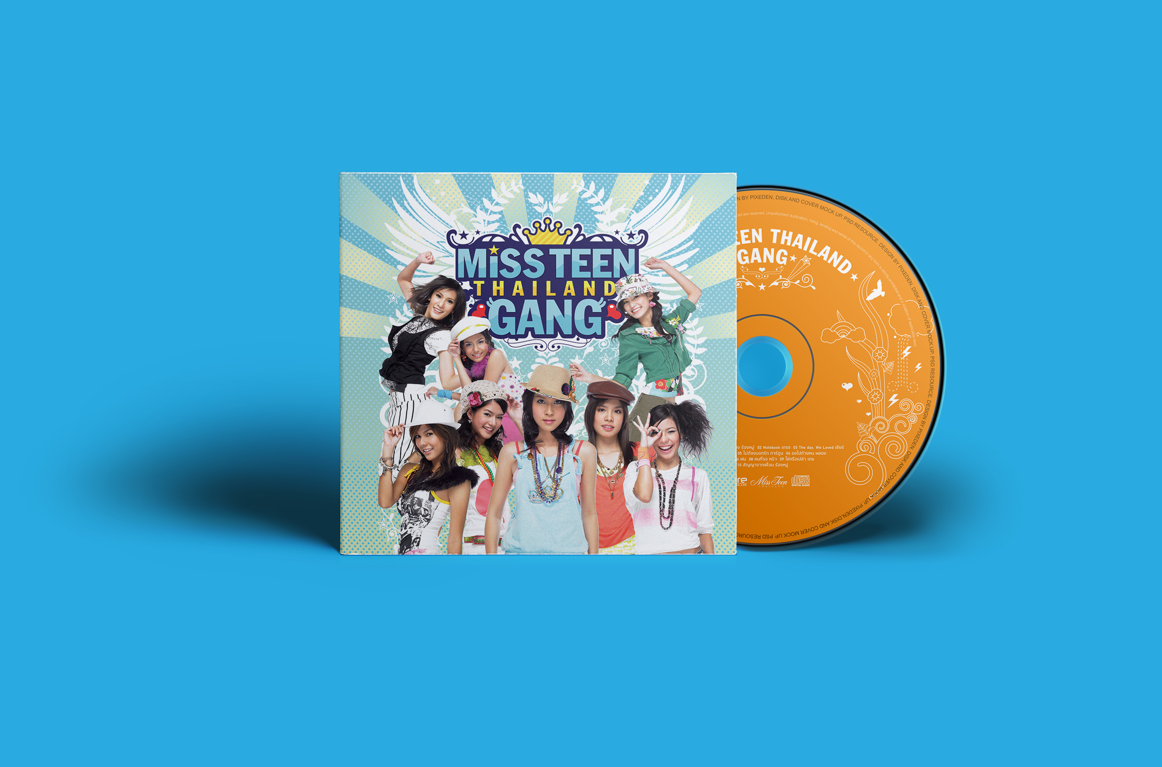 CD packaging for Miss Teen Thailand Gang The Album