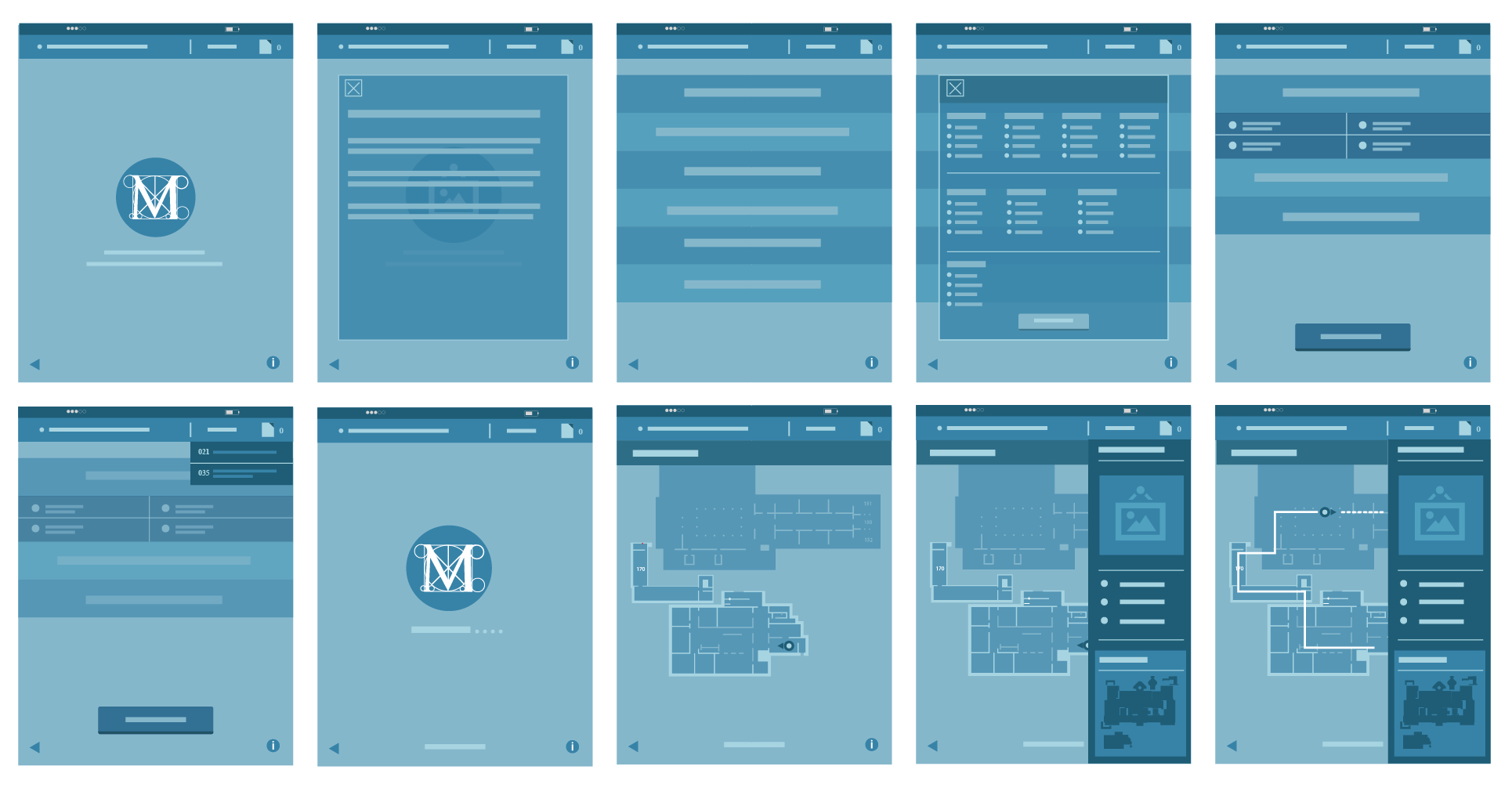The Entire Wireframe with Adobe illustrator