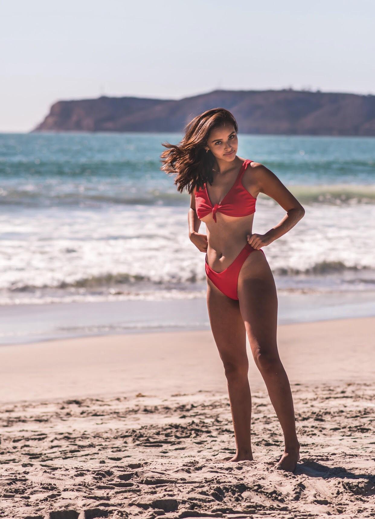Model wearing Arrow + Phoenix.