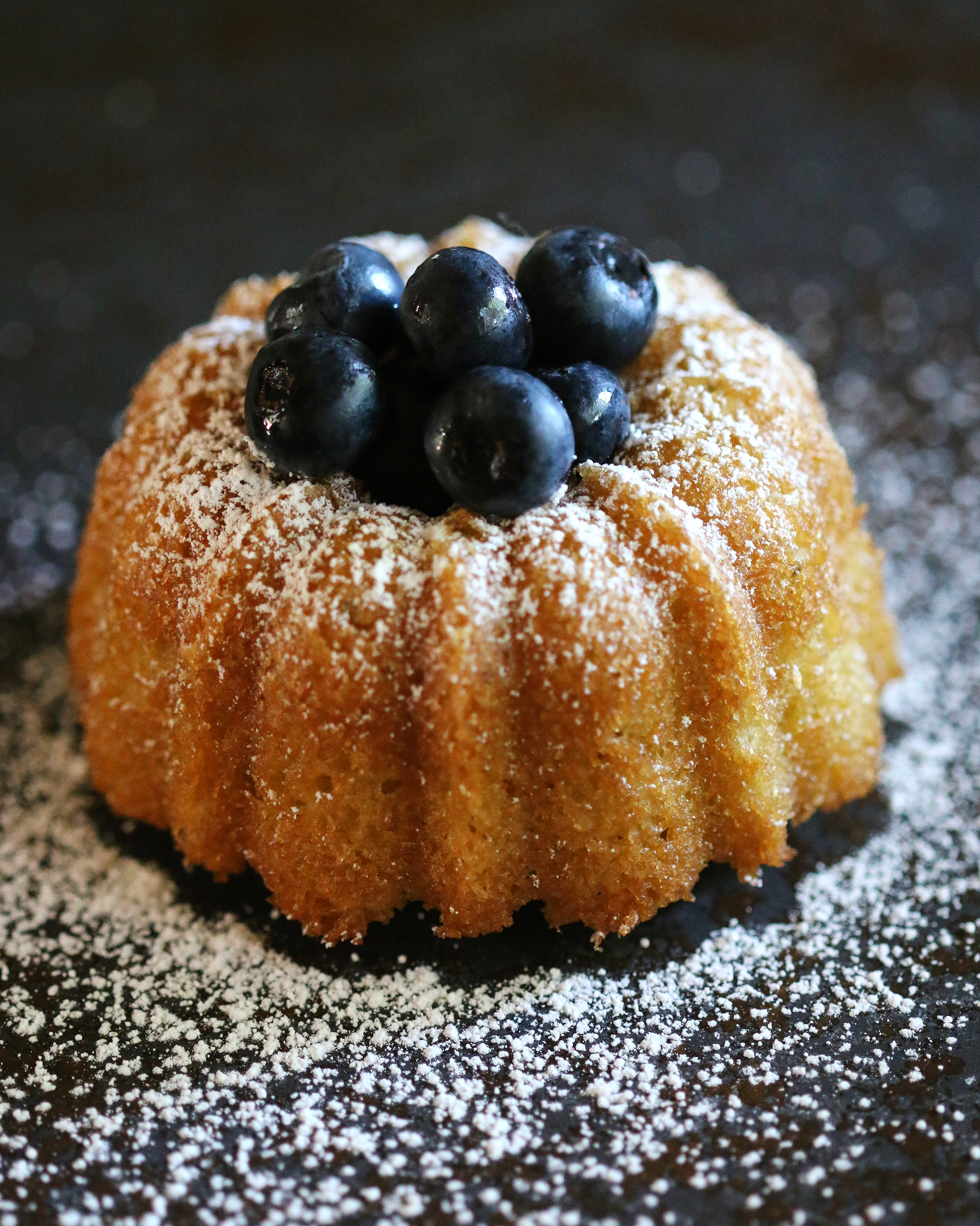 This recipe works well with mini bundt cake pans as shown above.