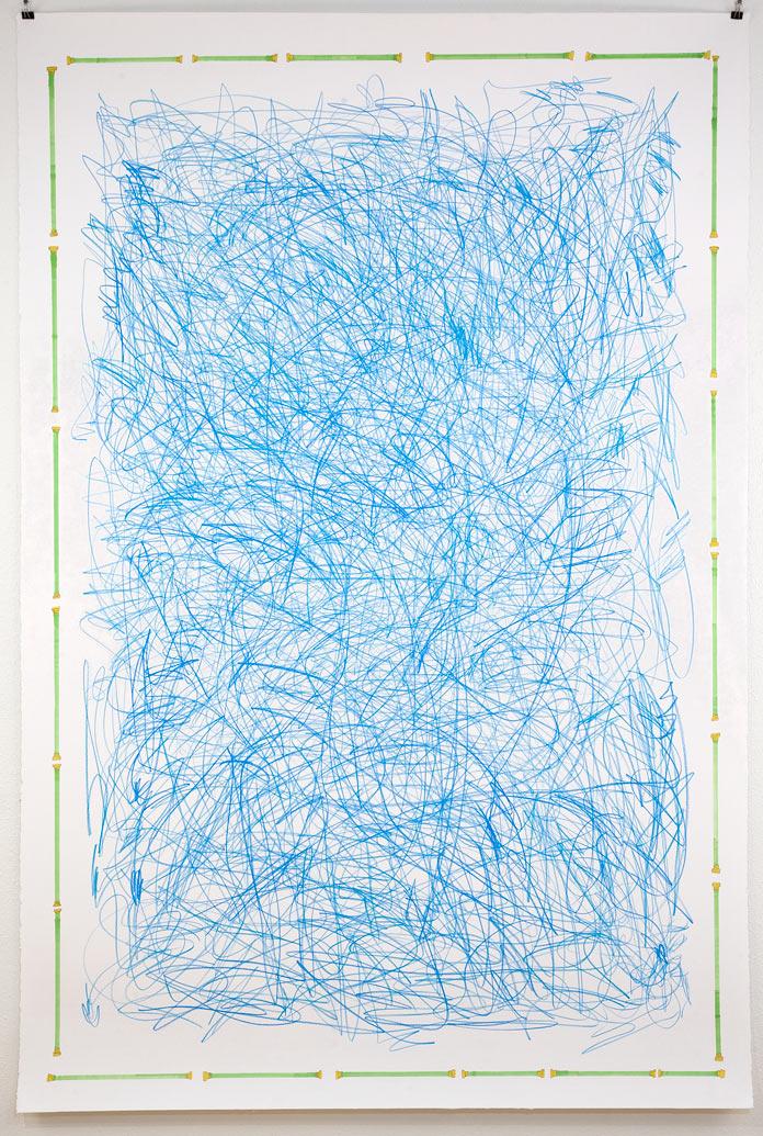 Blue scribble 2011