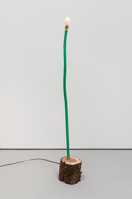JC16--Hose-Log-Lamp-2_Garden-hose,-copper-tubing,-live-oak,-lightbulb_49.5-x-7-x-6-inches.jpg