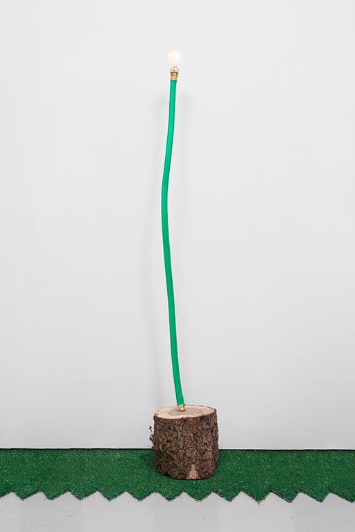 JC16--Hose-Log-Lamp-4_Garden-hose,-copper-tubing,-live-oak,-lightbulb_48.5-x-6-x-7.5-inches.jpg