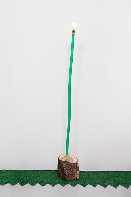 JC16--Hose-Log-Lamp-5_Garden-hose,-copper-tubing,-live-oak,-lightbulb_49-x-7.5-x-7-inches.jpg