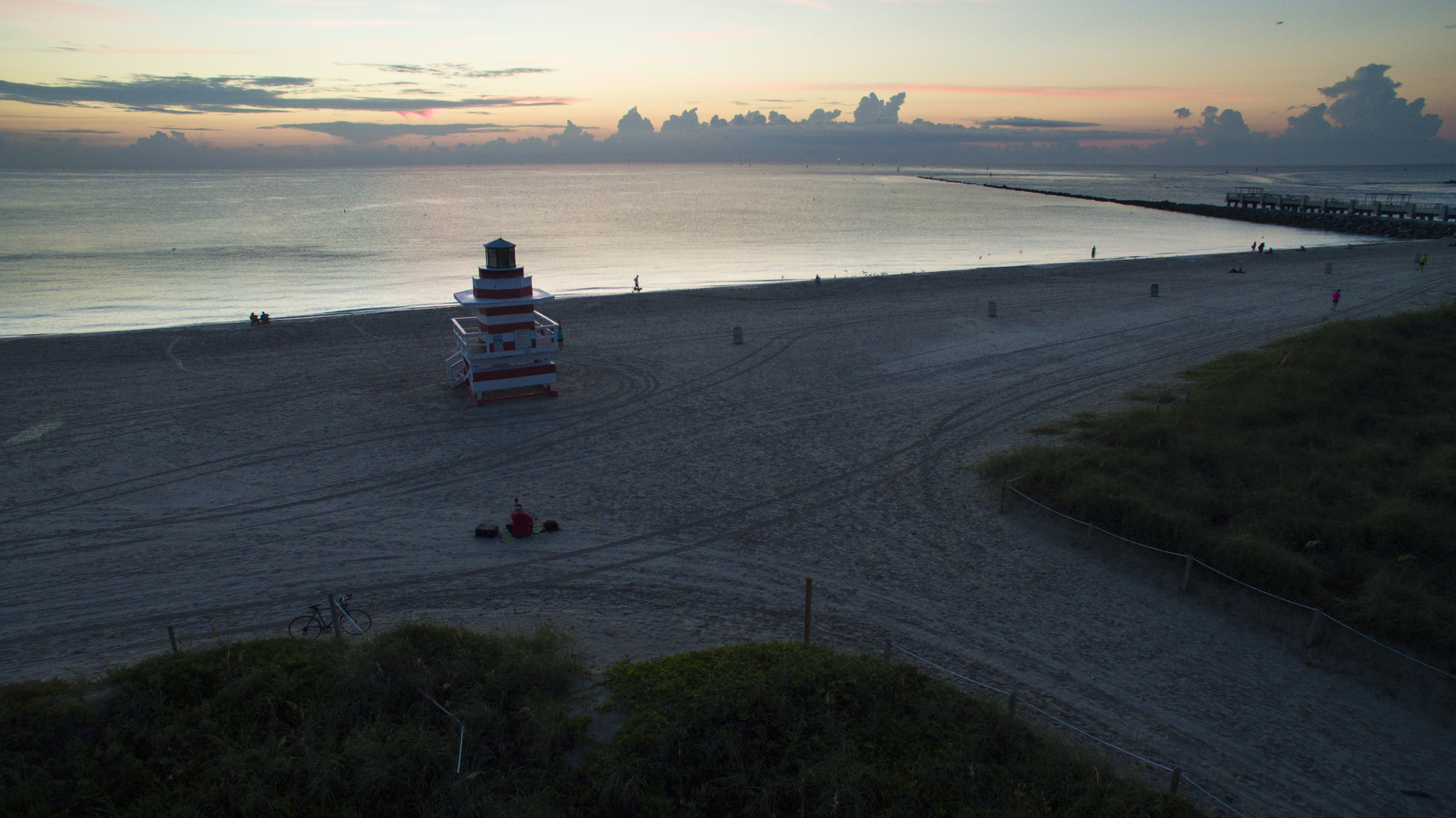 Making a Landscape photo on Miami Beach.