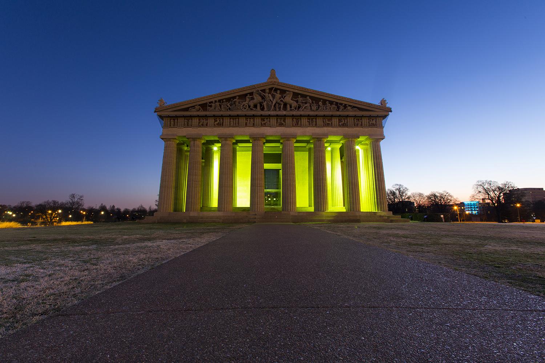 Sunrise at the Nashville Parthenon