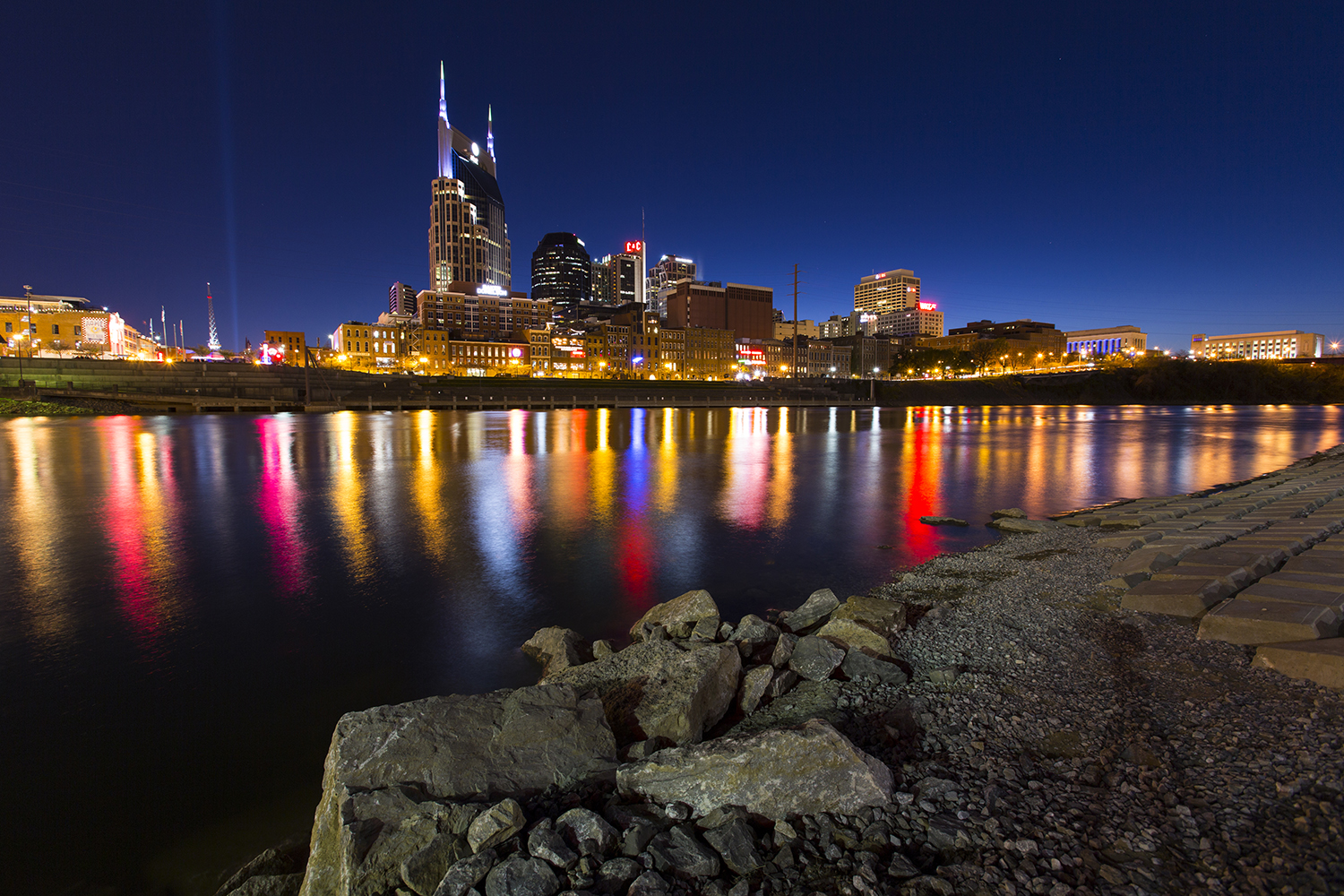 Downtown Nashville from the Cumberland River