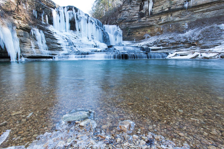 Frozen Cummins Falls