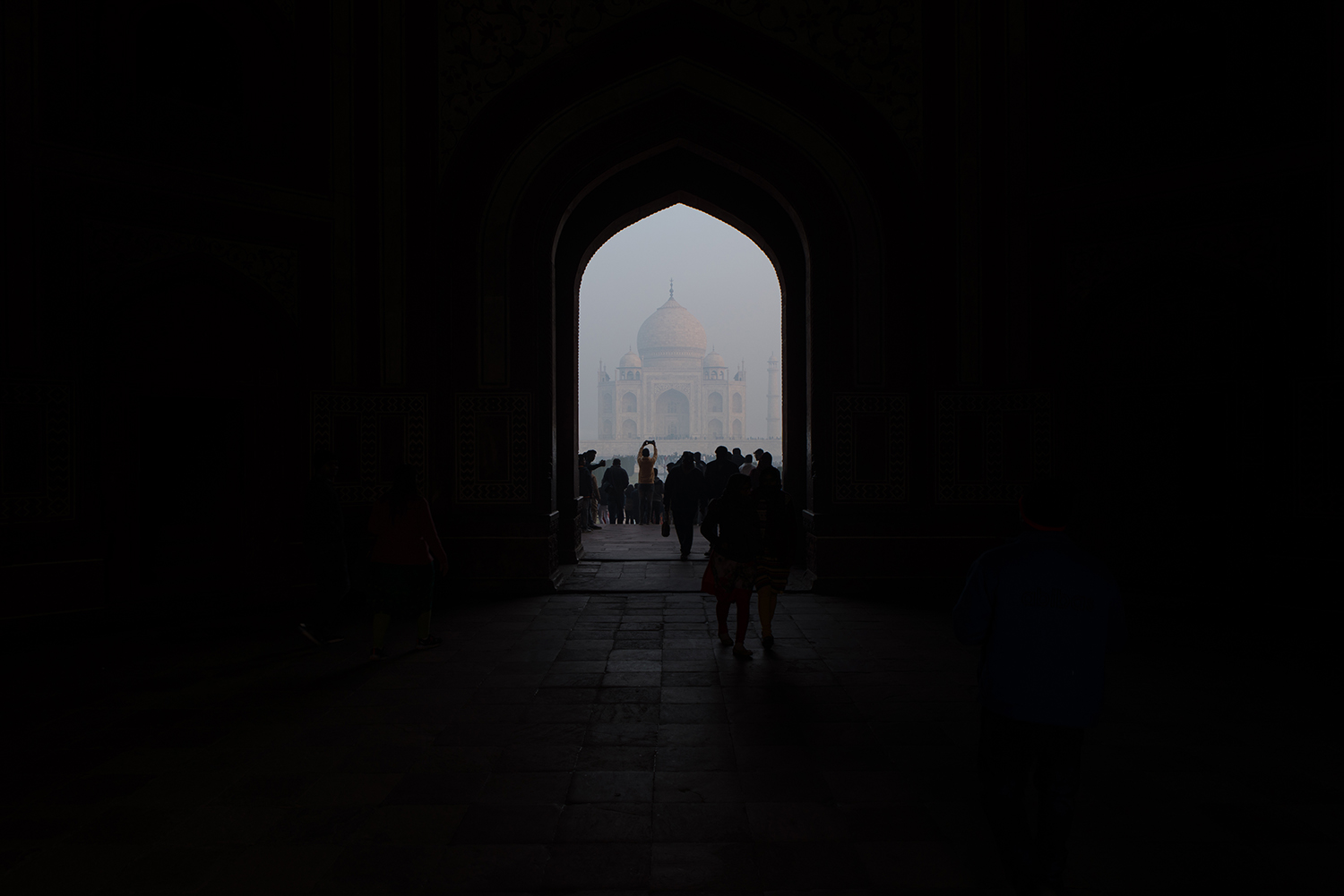 First sighting of the Taj Mahal