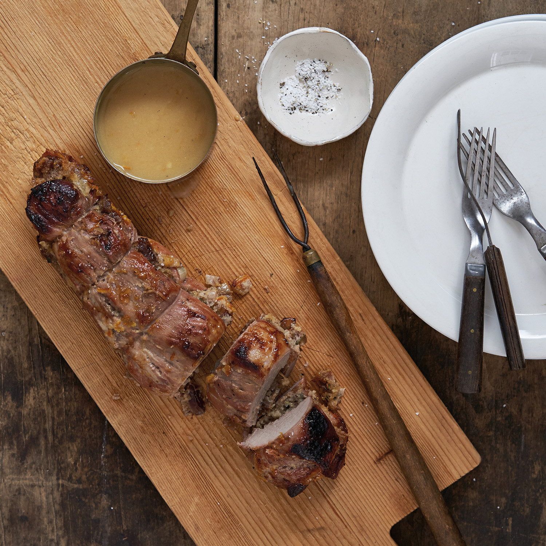 stuffed pork loin with dates