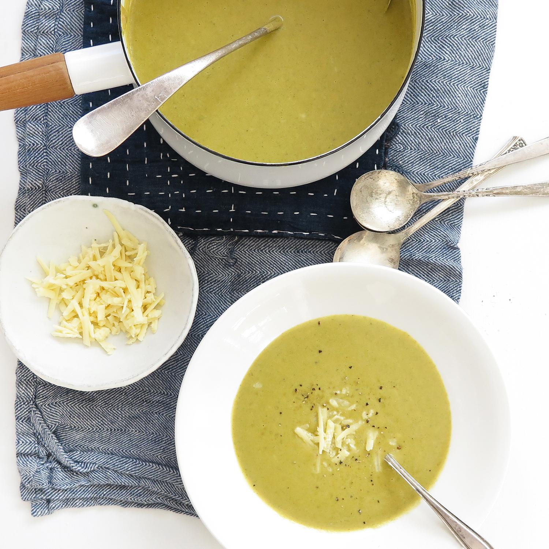 creamy cheddar-broccoli soup