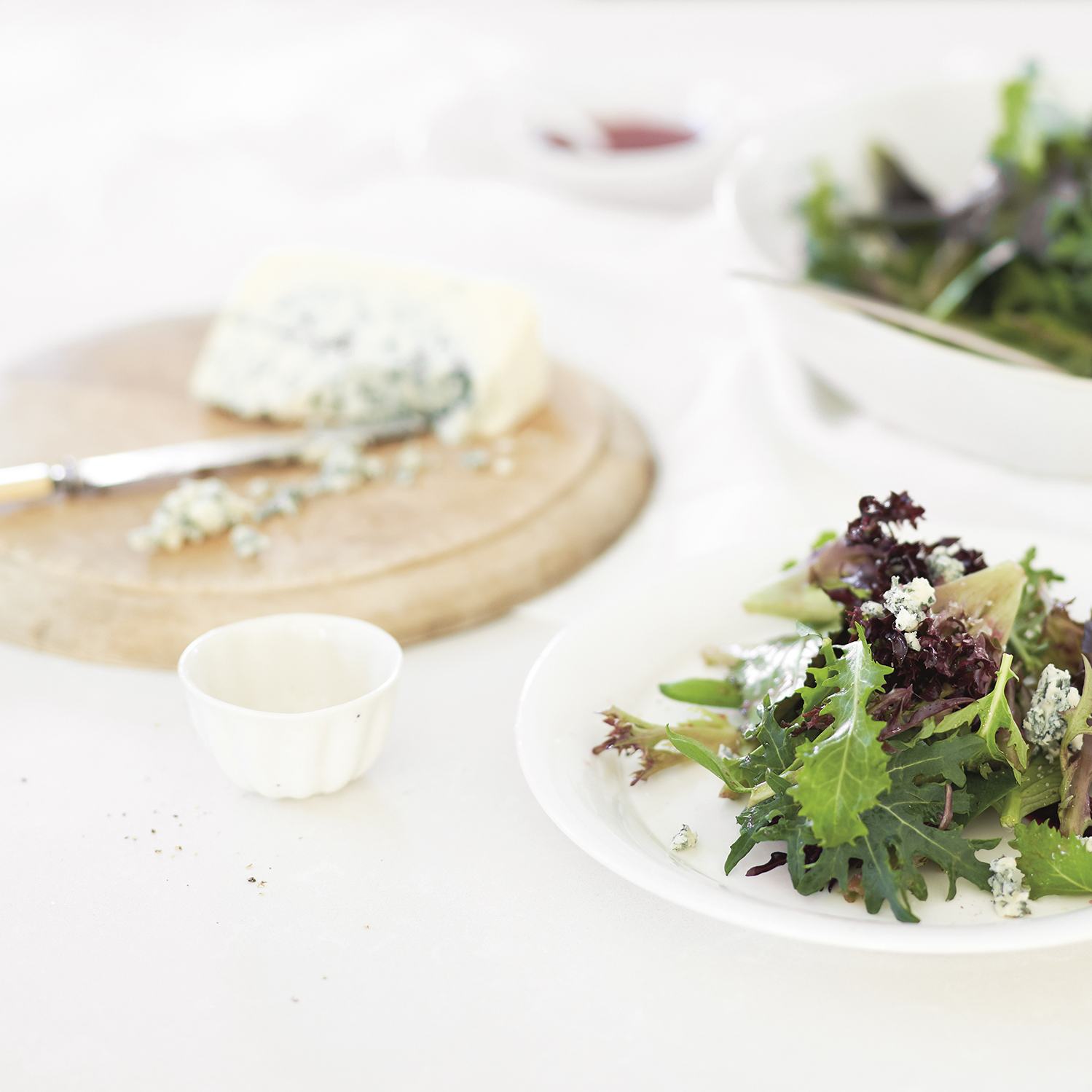 greens with pickled beet vinaigrette