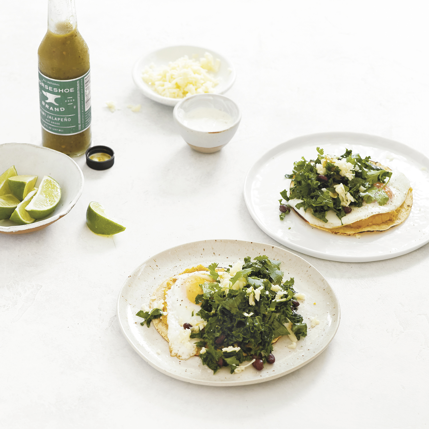 breakfast tostadas with squash seed crema