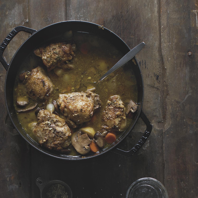 roasted chicken + mushrooms