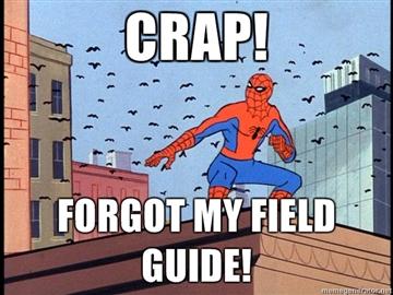Crap-Forgot-my-field-guide
