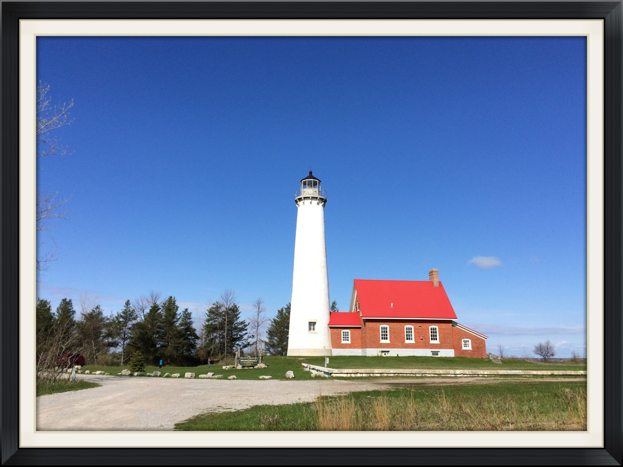 The lighthouse at Tawas Point State Park.