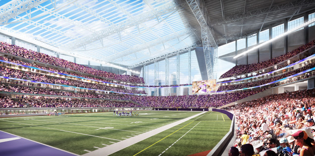 Artist rendering of the view from inside the stadium.