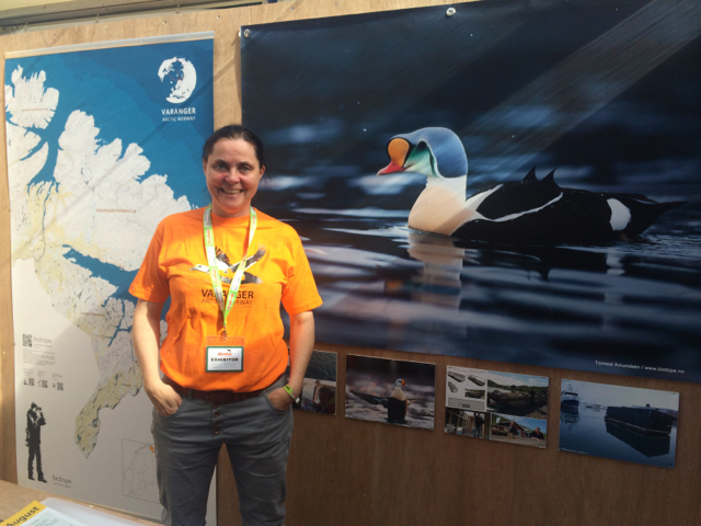 One of many cool encounters at BirdFair: the  Biotope  booth. The make gorgeous blinds (or hides) for photography and wildlife watching. I especially loved their  floating blind  for taking pictures of sea ducks.