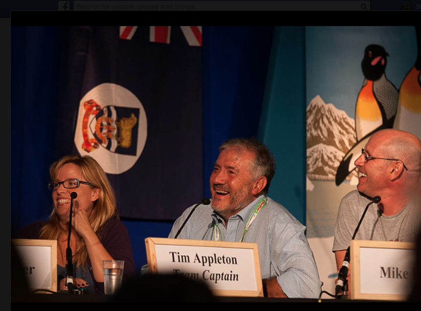 My team for A Question of Stork with Tim Appleton and Mike Dilger. Photo by  Craig Nash .