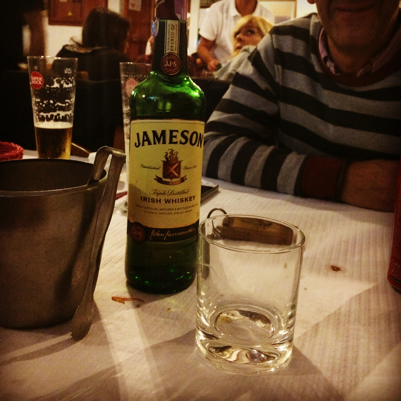 After dinner I asked for a Jameson on the rocks. The restaurant set down the bottle, a glass and the ice bucket. This happened at every restaurant where I ordered a whiskey in Portugal. With great power comes great responsibility.