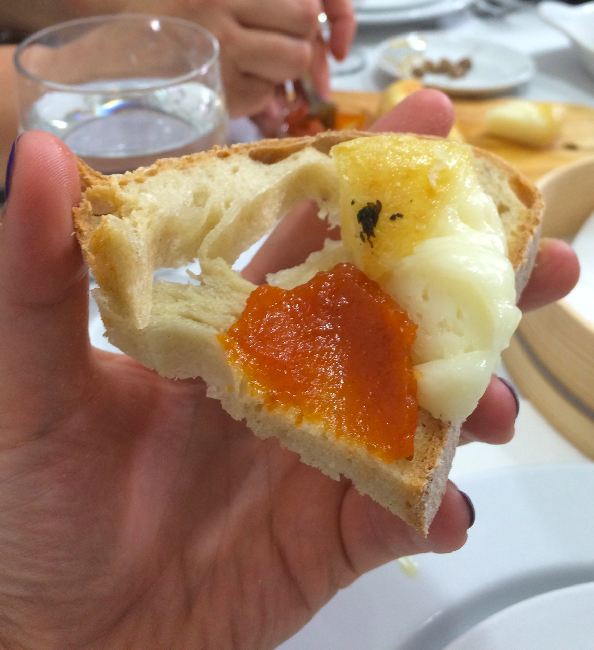 """Mértola was the perfect lunch stop. Not only did we have a fabulously fresh tomato salad, but I was introduced to """"grilled cheese"""" with homemade pumpkin spread on toast."""