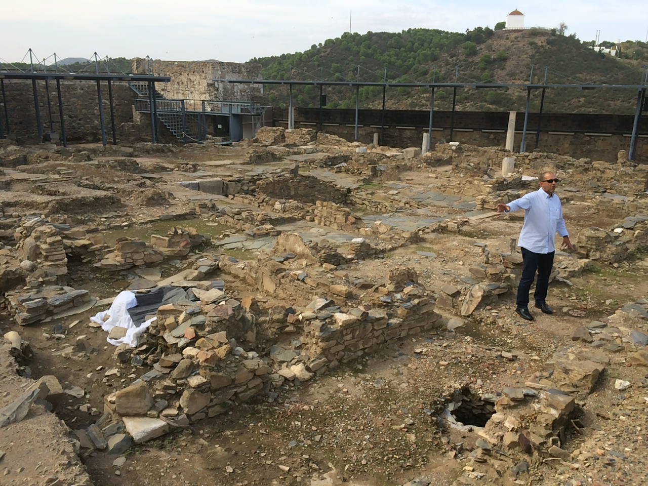 Old Muslim village excavated outside the church.