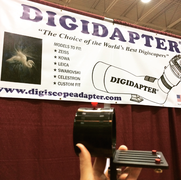A new digiscoping adapter I've been playing with since seeing it in Florida called the  Digidapter .