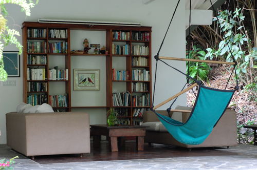 The outdoor library at Canopy Lodge in Panama. Doesn't that look relaxing?
