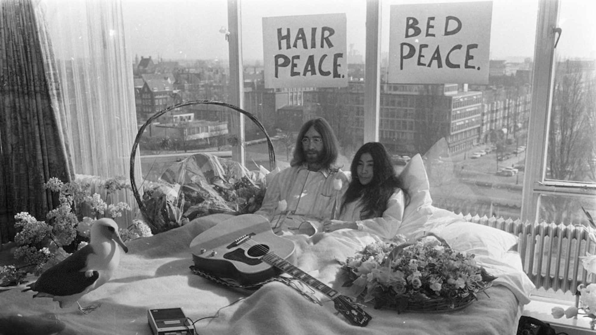 Wisdom with John and Yoko.